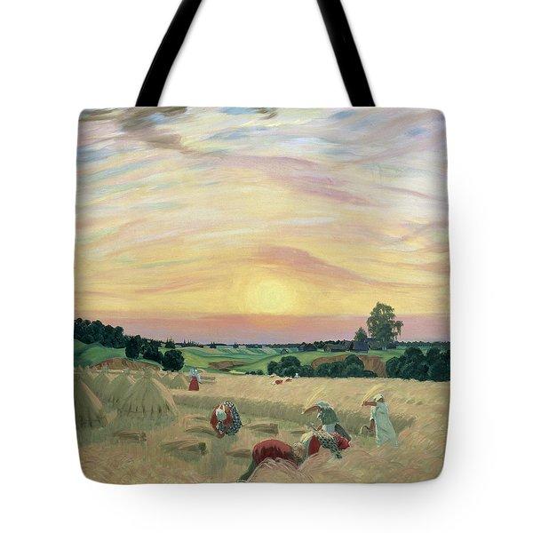The Harvest Tote Bag by Boris Mikhailovich Kustodiev
