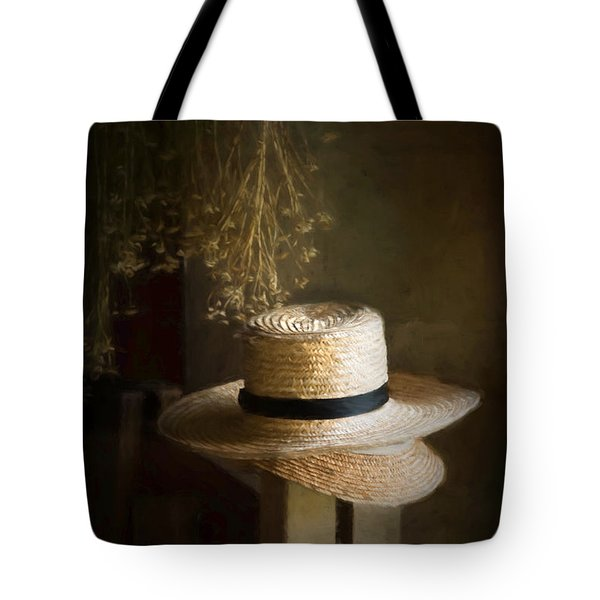 Tote Bag featuring the photograph The Harvester's Hat by Robin-Lee Vieira