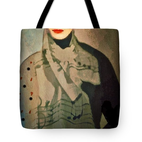 Tote Bag featuring the digital art The Hat by Alexis Rotella