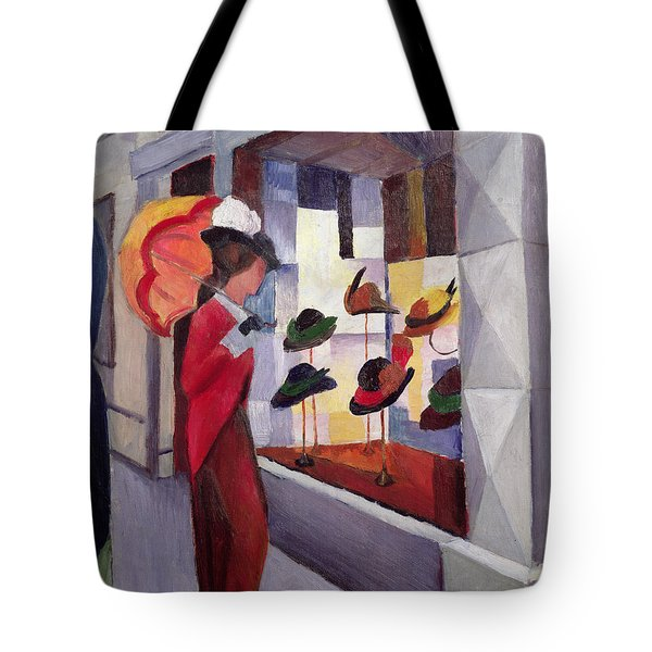 The Hat Shop Tote Bag by August Macke