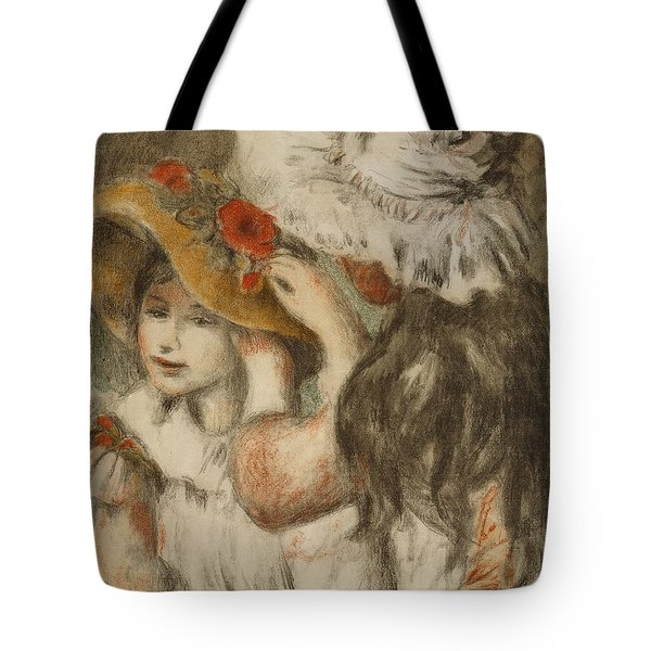 The Hatpin Tote Bag by  Pierre Auguste Renoir