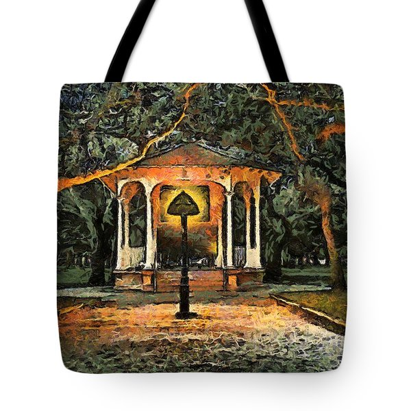 The Haunted Gazebo Tote Bag by RC deWinter