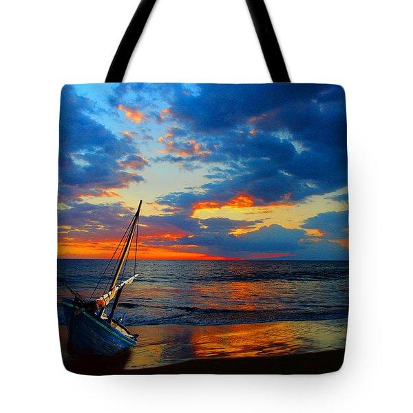 The Hawaiian Sailboat Tote Bag by Michael Rucker