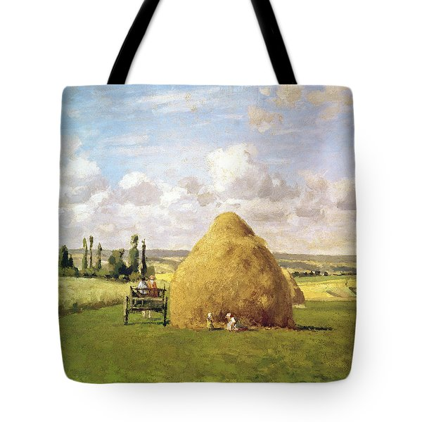 The Haystack Tote Bag by Camille Pissarro