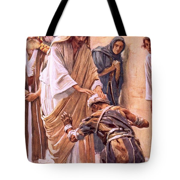 The Healing Of The Leper Tote Bag