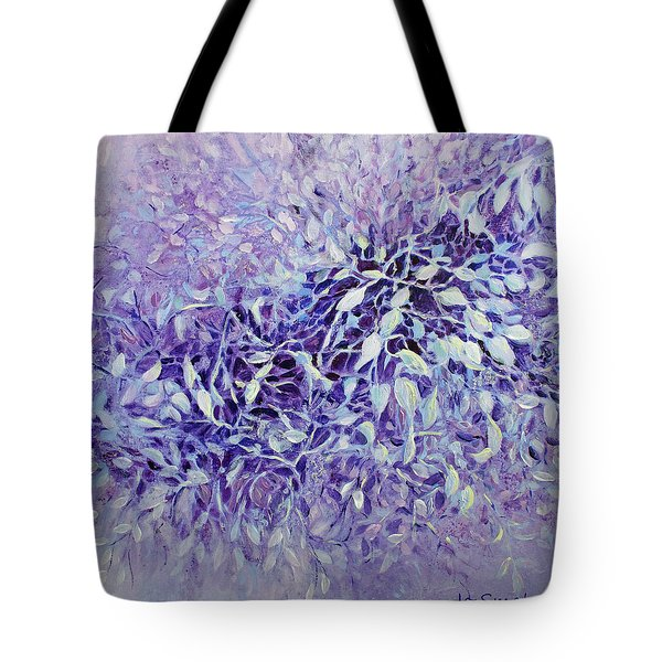 Tote Bag featuring the painting The Healing Power Of Amethyst by Joanne Smoley