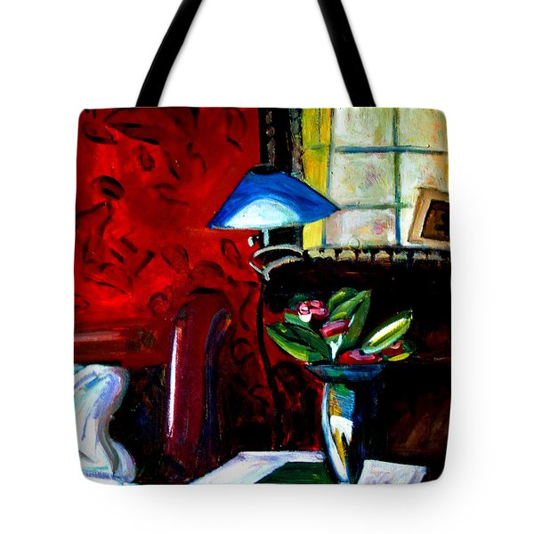 Tote Bag featuring the painting The Healing Room by Charlie Spear