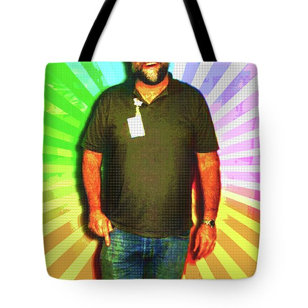 Tote Bag featuring the mixed media The Healing Smile Mosaic by Shawn Dall