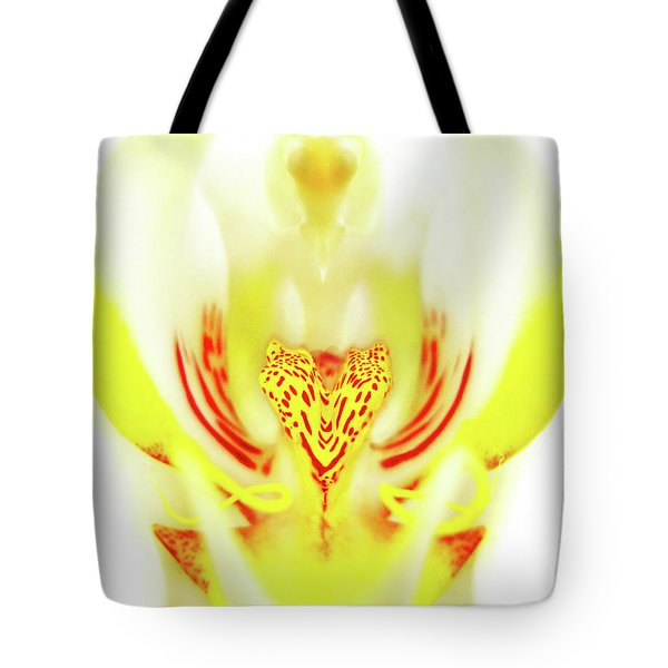 Tote Bag featuring the photograph The Heart Of An Alien-orchid by Jennie Breeze