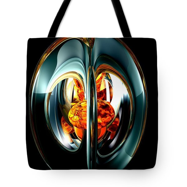 The Heart Of Chaos Abstract Tote Bag by Alexander Butler