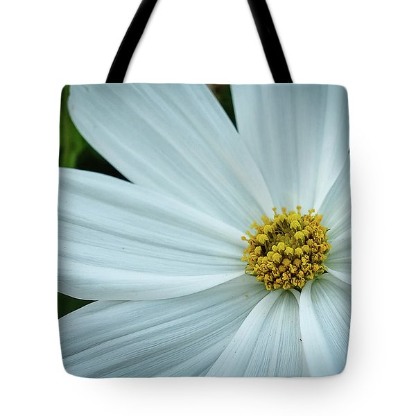 Tote Bag featuring the photograph The Heart Of The Daisy by Monte Stevens