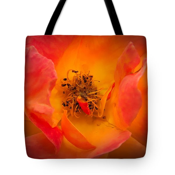 Tote Bag featuring the photograph The Heart Of The Matter by Cendrine Marrouat