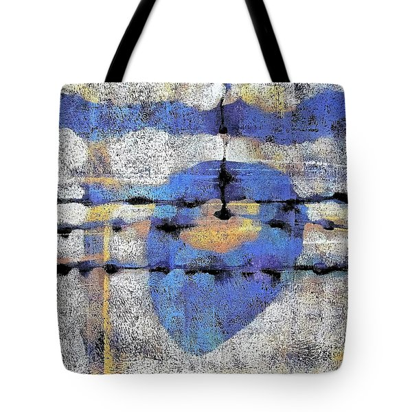 Tote Bag featuring the painting The Heart Of The Matter by Maria Huntley