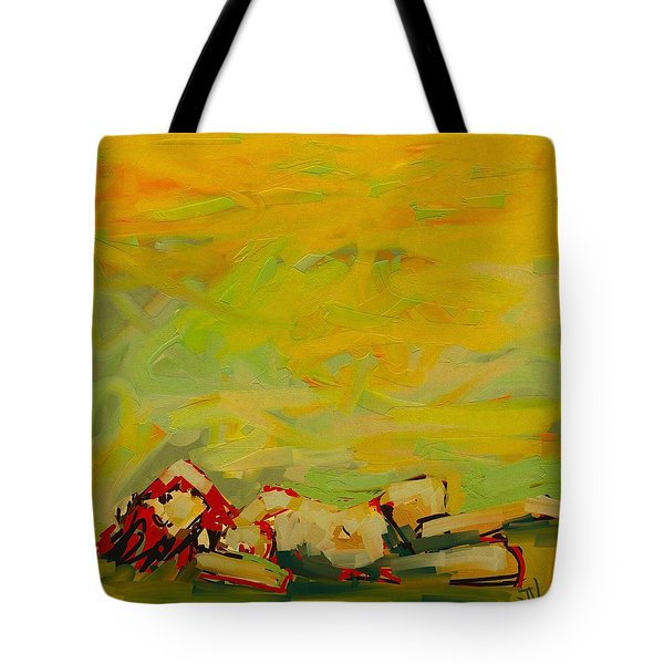 Tote Bag featuring the digital art The Heat Of Summer by Jim Vance