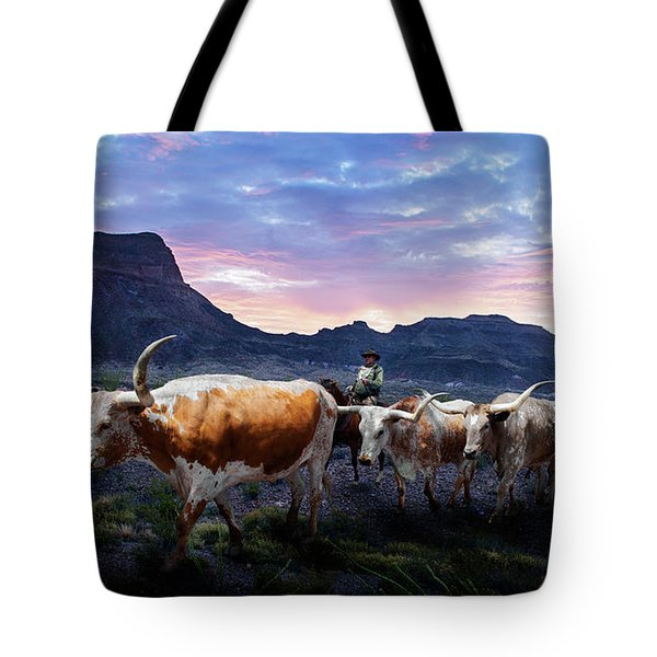 Texas Longhorns Blue Tote Bag