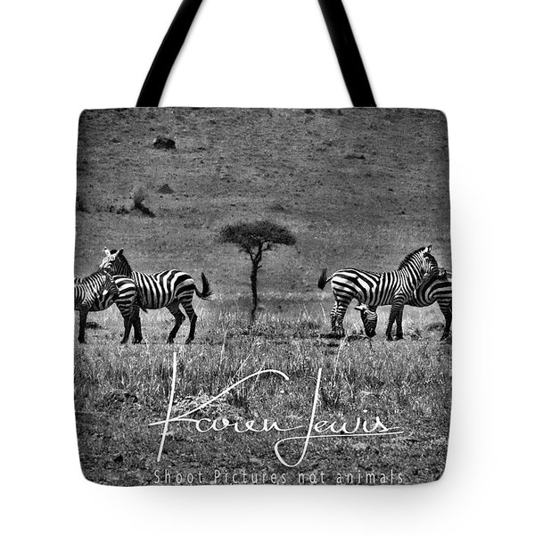 Tote Bag featuring the photograph The Herd by Karen Lewis