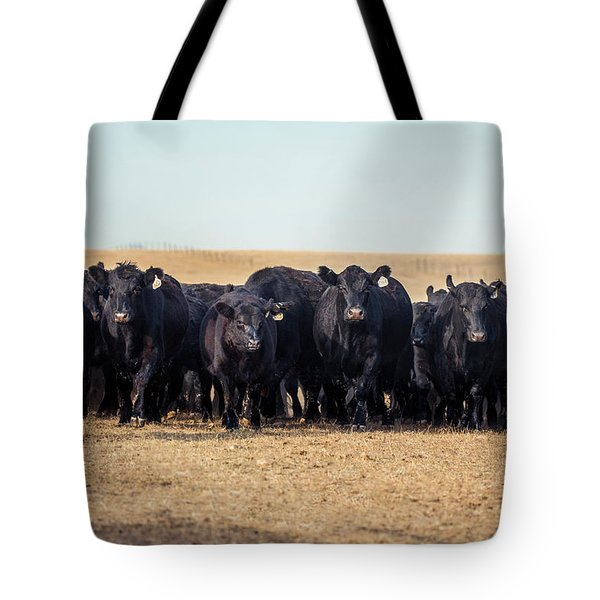 The Herd Rushes In Tote Bag