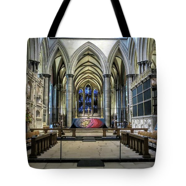 The High Altar In Salisbury Cathedral Tote Bag