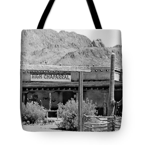 The High Chaparral Set With Sign Old Tucson Arizona 1969-2016 Tote Bag
