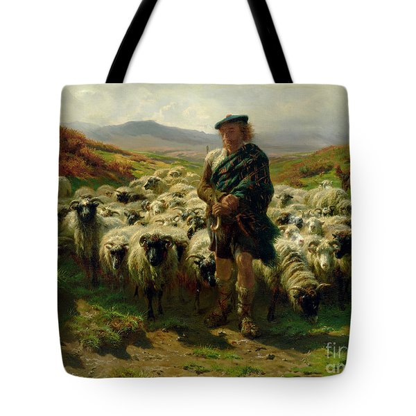 The Highland Shepherd Tote Bag by Rosa Bonheur