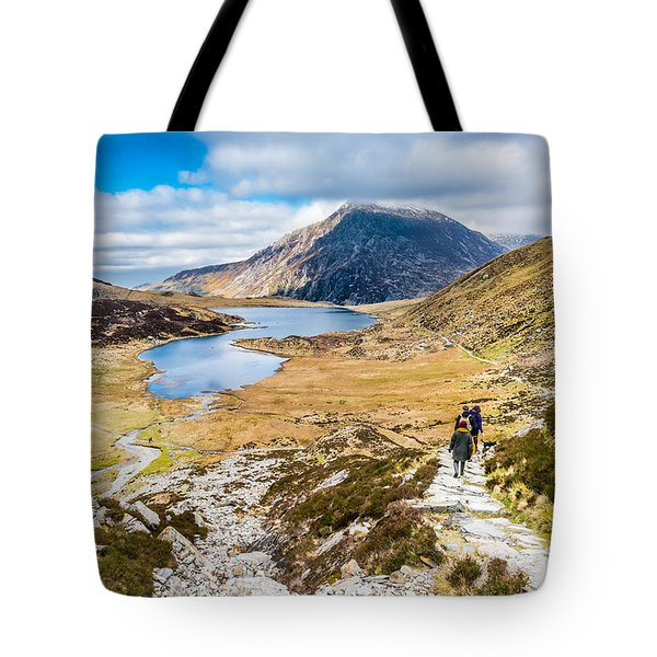 Tote Bag featuring the photograph The Hike Back Down by Nick Bywater