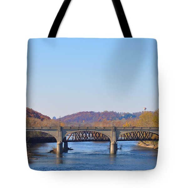 The Hill To Hill Bridge - Bethlehem Pa Tote Bag by Bill Cannon