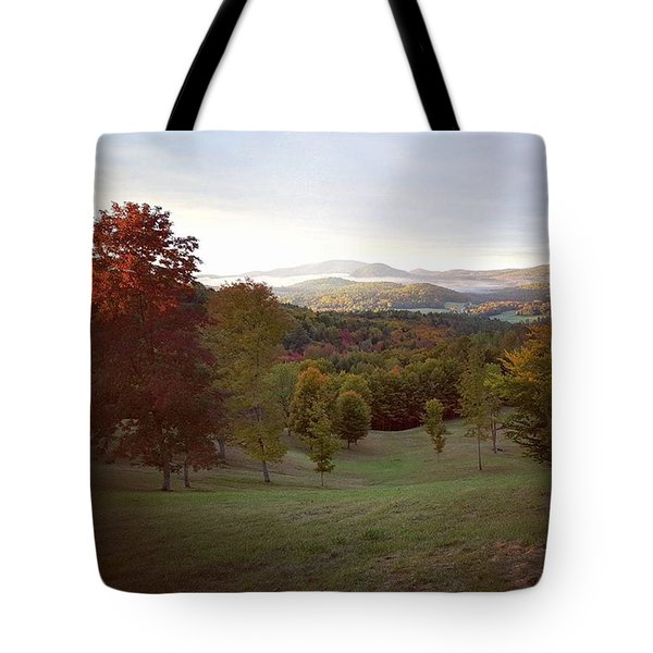 The Hills Of Peacham #vermont At Tote Bag