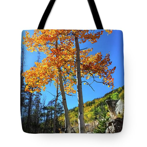 Tote Bag featuring the photograph The Hillside - Panorama by Shane Bechler