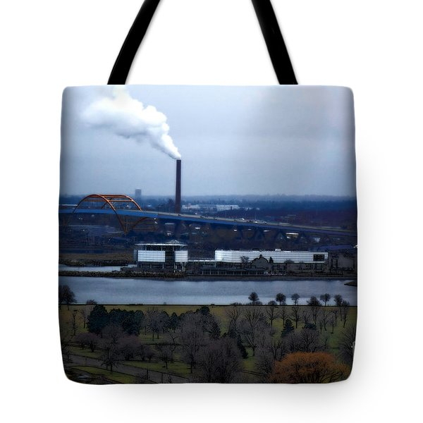 Tote Bag featuring the digital art The Hoan by David Blank