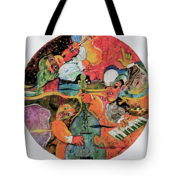 The Holland Jazz Trio Tote Bag by Lee Ransaw