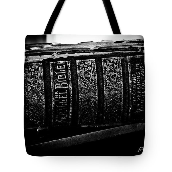 The Holy Bible Tote Bag by Joann Copeland-Paul