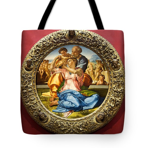 The Holy Family - Doni Tondo - Michelangelo Tote Bag