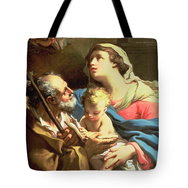 The Holy Family Tote Bag by Gaetano Gandolfi