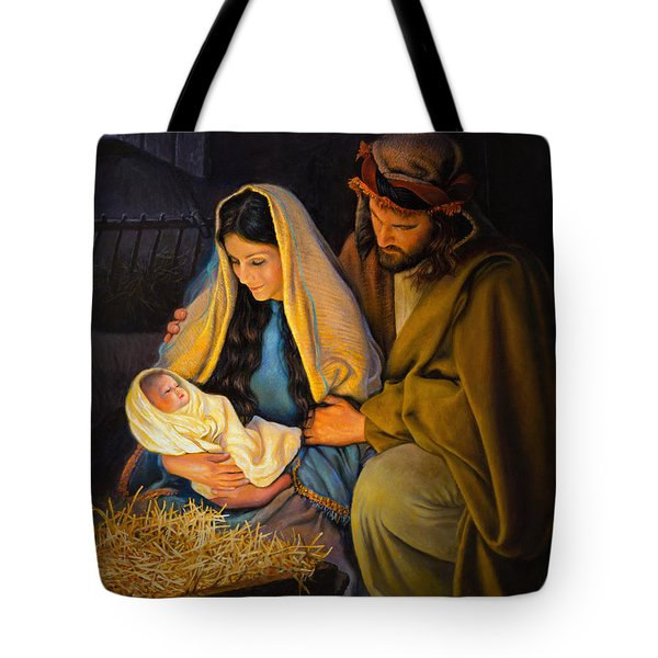 Tote Bag featuring the painting The Holy Family by Greg Olsen