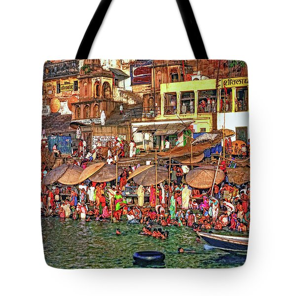 The Holy Ganges Tote Bag by Steve Harrington