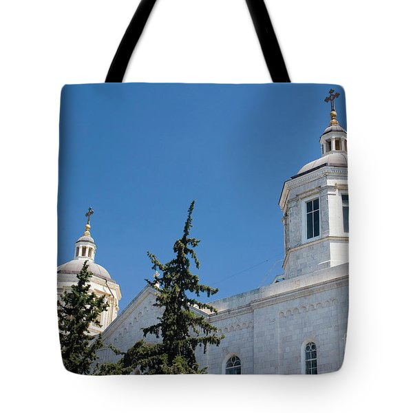 The Holy Trinity Cathedral, Jerusalem Israel  Tote Bag