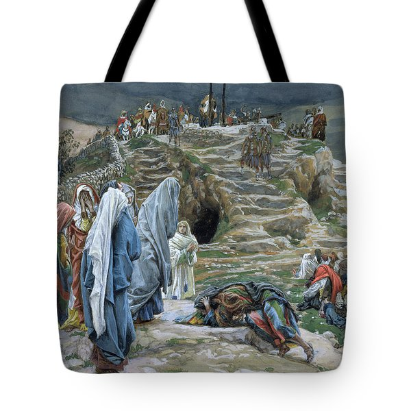 The Holy Women Stand Far Off Beholding What Is Done Tote Bag