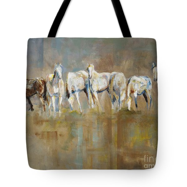 The Horizon Line Tote Bag by Frances Marino