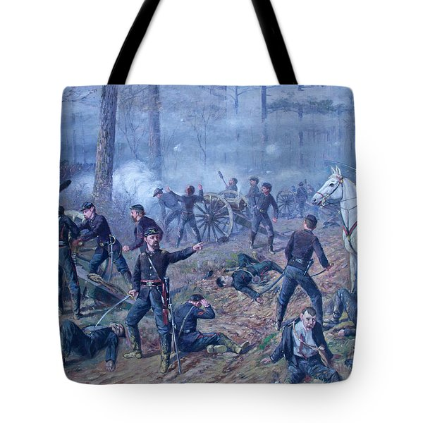 Tote Bag featuring the painting The Hornets' Nest by Thomas Corwin Lindsay