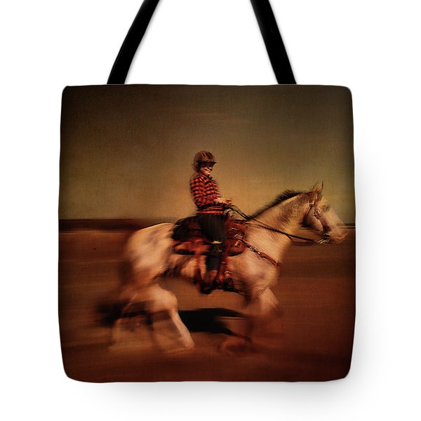 The Horse Rider Tote Bag
