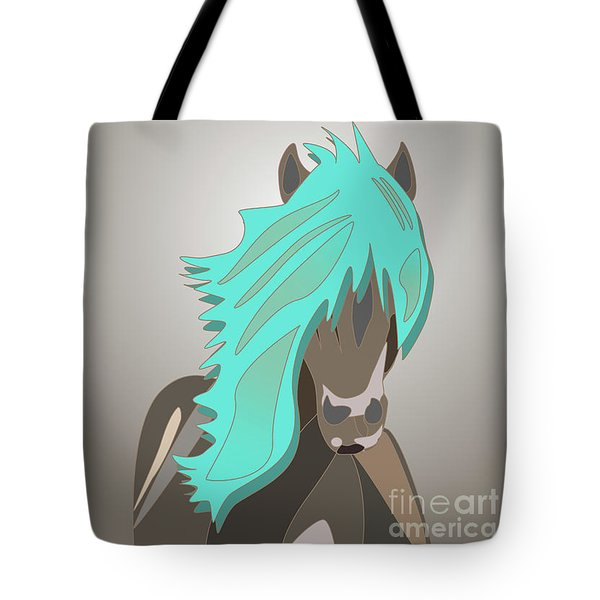 The Horse With The Turquoise Mane Tote Bag