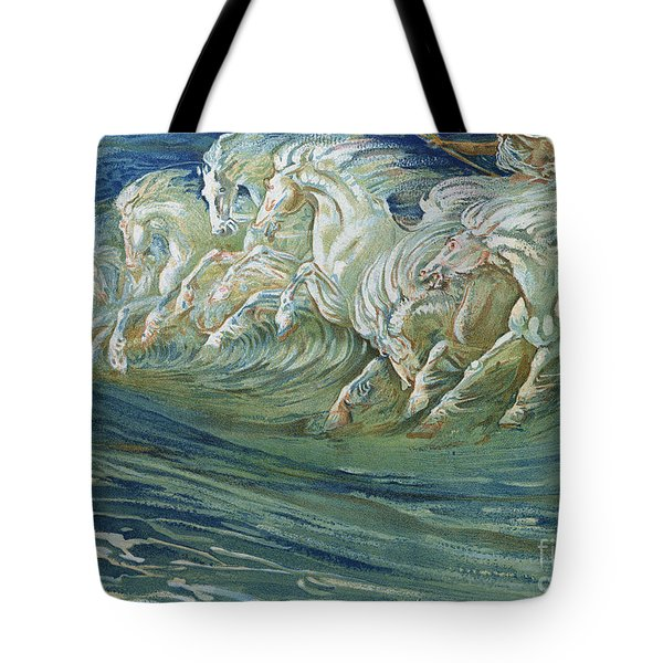 The Horses Of Neptune Tote Bag