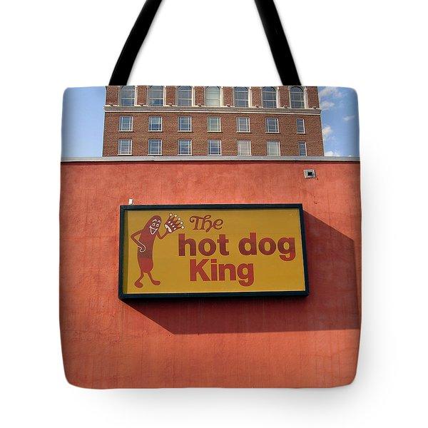 The Hot Dog King Tote Bag