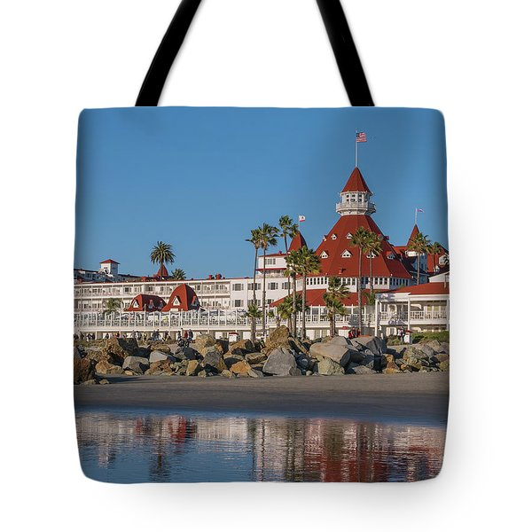 Tote Bag featuring the photograph The Hotel Del Coronado by Robert Bellomy