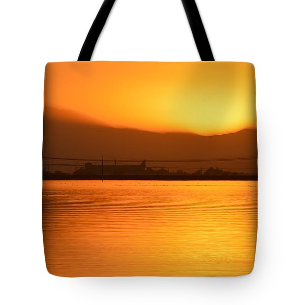 The Hour Is Golden Tote Bag