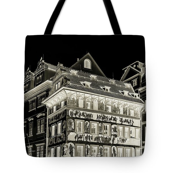 Tote Bag featuring the photograph The House At The Minute With Graffiti. Black by Jenny Rainbow