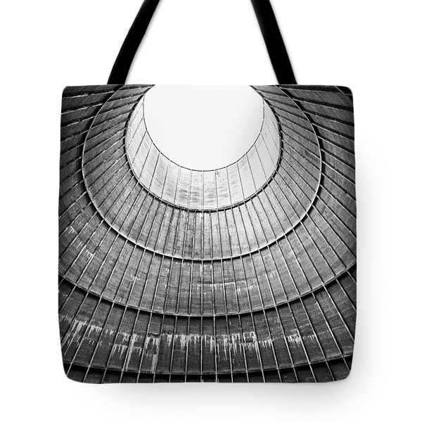 The House Inside The Cooling Tower - Industrial Decay Tote Bag