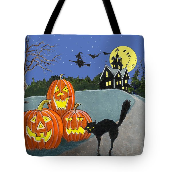 The House On Cemetery Hill Tote Bag