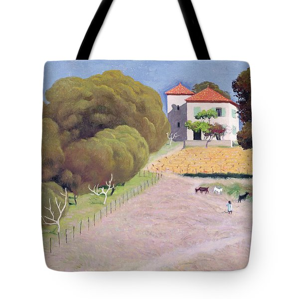 The House With The Red Roof Tote Bag by Felix Edouard Vallotton