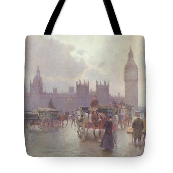 The Houses Of Parliament From Westminster Bridge Tote Bag by Alberto Pisa